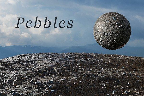 3D Rock: Sun Studio - Pebbles tileable texture set