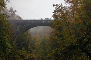 Railroad bridge in Vintgar Gorge