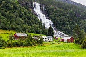 Tvindefossen Waterfall, Norway