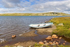 Lake and Boat in Norway
