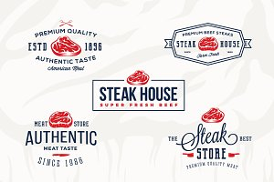 Steak House Vintage Labels