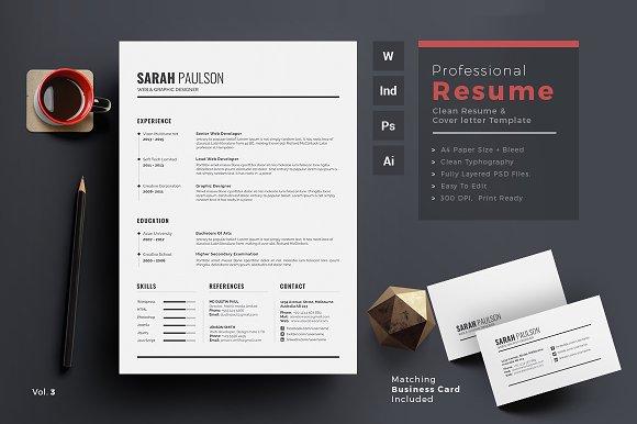 Resumecv resume templates creative market colourmoves