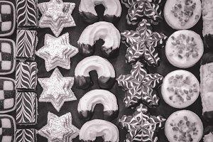 Handmade Christmas Cookies (B&W)