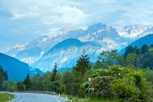 Alps mountain road