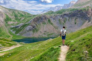 Trekking in the Pyrenees Mountains