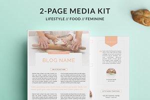 Blogger Media Kit | 2-Page Pink