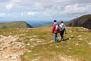 Trekking in Snowdonia, Wales