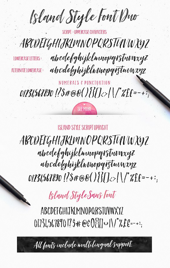 Island Style Brushed Font Duo Script Fonts Creative Market