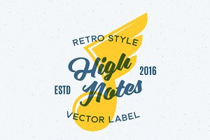 High Notes Vector Retro Illustration
