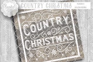 Country Christmas Cut File