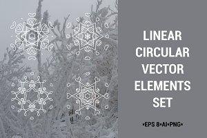 Linear circular vector elements set