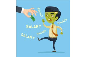 Zombie worker try catch salary