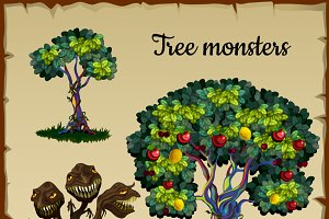 Magic tree and tree tree-monster
