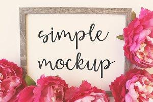 Simple Mockup Peony