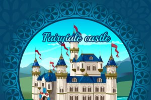 Fairytale medieval Princess castle