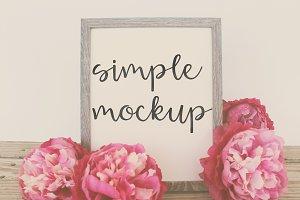 Simple Peony Mockup