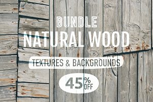3 Backgrounds - Natural wood texture