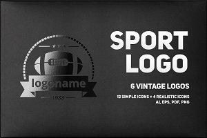 Sport logo | 6 vintage logos