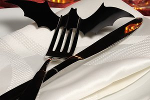 Flatware on Halloween