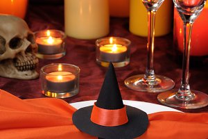 decor napkin on Halloween