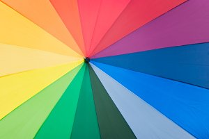 Raibow Colors Umbrella