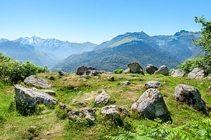 Prehistoric Cromlech in the Pyrenees
