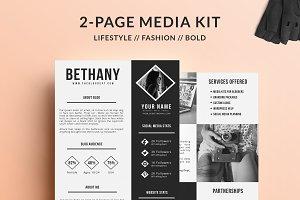 Blog Media Kit - 2 Page 'Bethany'