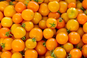 Yellow or orange cherry tomatoes