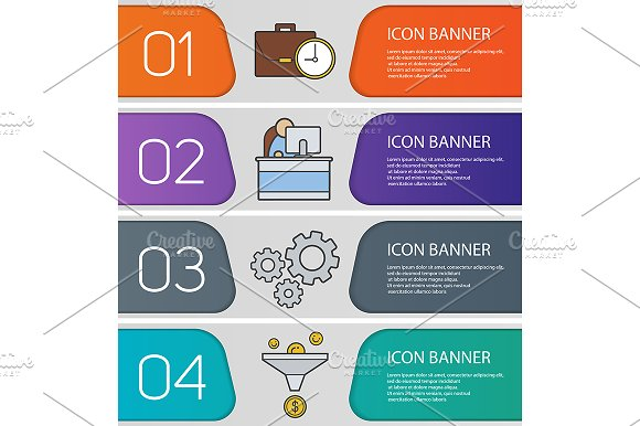 Business banner templates. Vector - Product Mockups