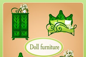 The image of dollhouse furniture