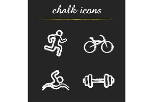 Sport. 4 icons set. Vector