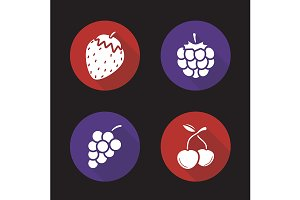 Berries. 4 icons. Vector