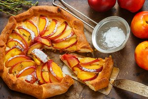Galette with peach