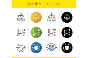 Business concepts. 12 icons. Vector
