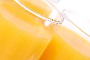 Glass with orange juice