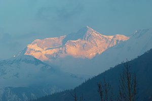 Sunrise at the mountain Annapurna