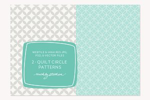 2 VECTOR & PSD quilt circle patterns