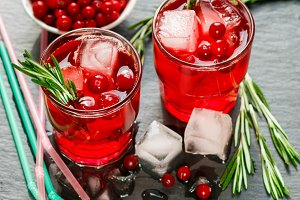 Lemonade cranberry with rosemary