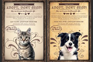 Pet Adoption Flyer Template