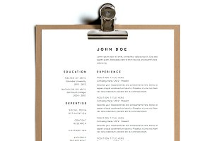 Simple Resume Template | Design 2