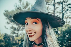 Smiling Halloween witch