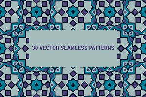 30 vector seamless patterns