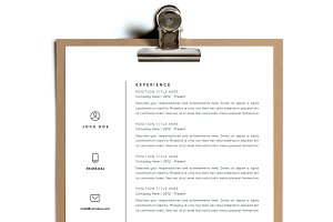 Simple Resume Template | Design 3