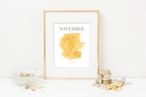 November Birthstone Print