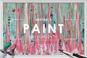 Abstract Paint Backgrounds Vol. 8