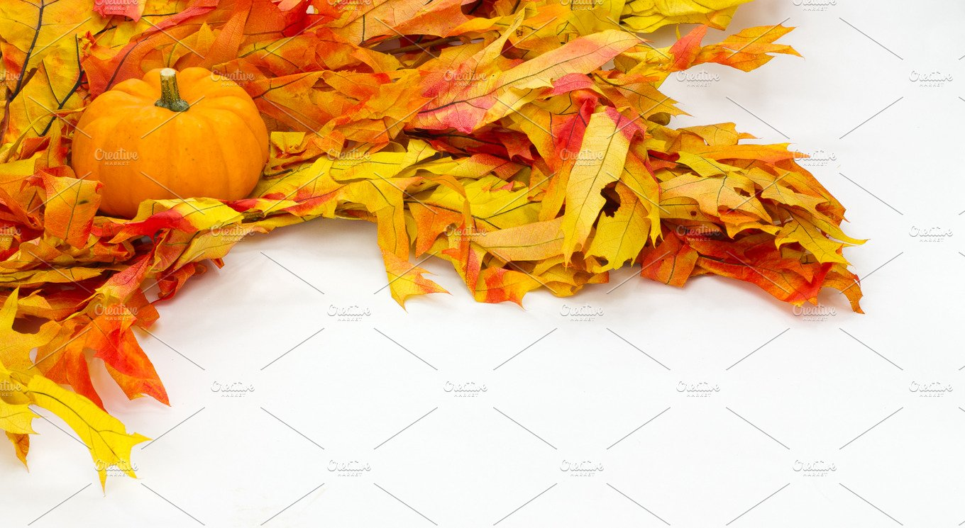 Fall Decorations With Leaves Holiday Photos Creative Market