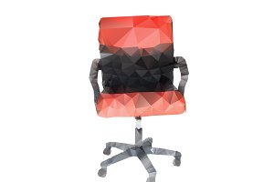 Polygonal style of red chair
