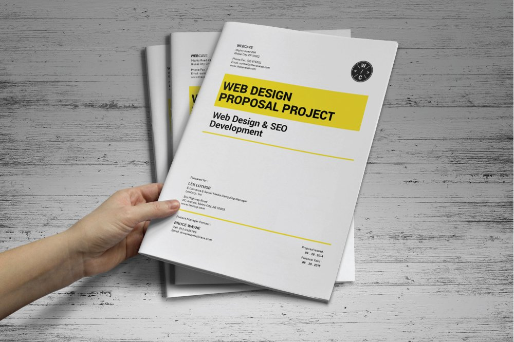 Web Design Proposal Stationery Templates Creative Market – Web Design Proposal Template