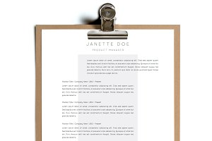 Simple Resume Template | Design 14