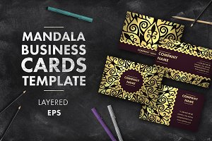 Mandala business card 012